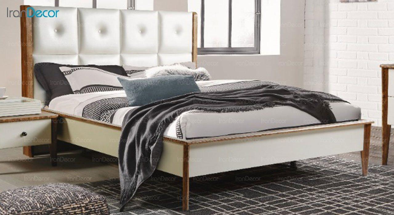 تخت خواب دو نفره پارس چوب مدل آکاژو