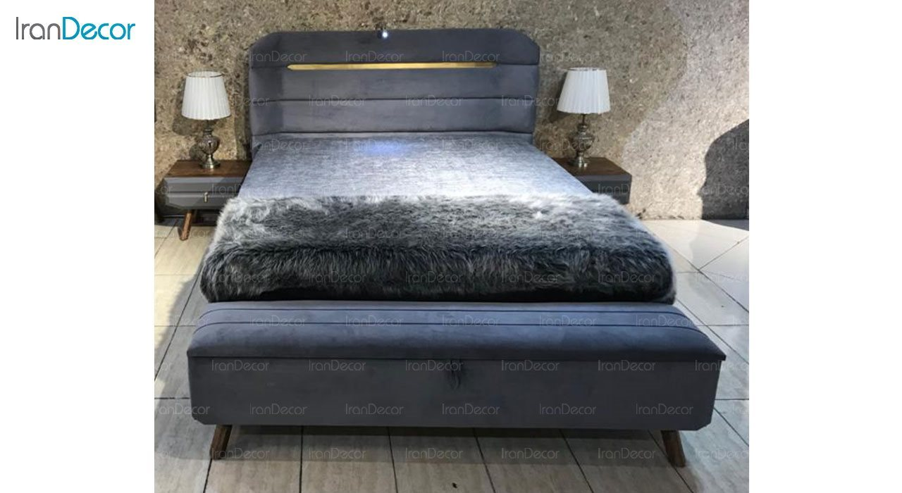 تخت خواب دو نفره پارس چوب مدل هیلدا