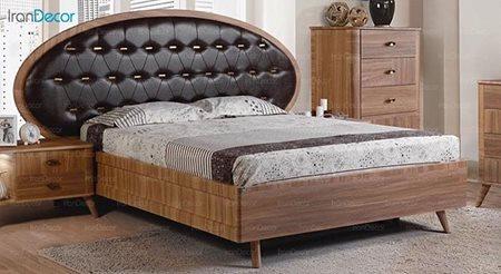 تخت خواب دو نفره پارس چوب مدل پانار