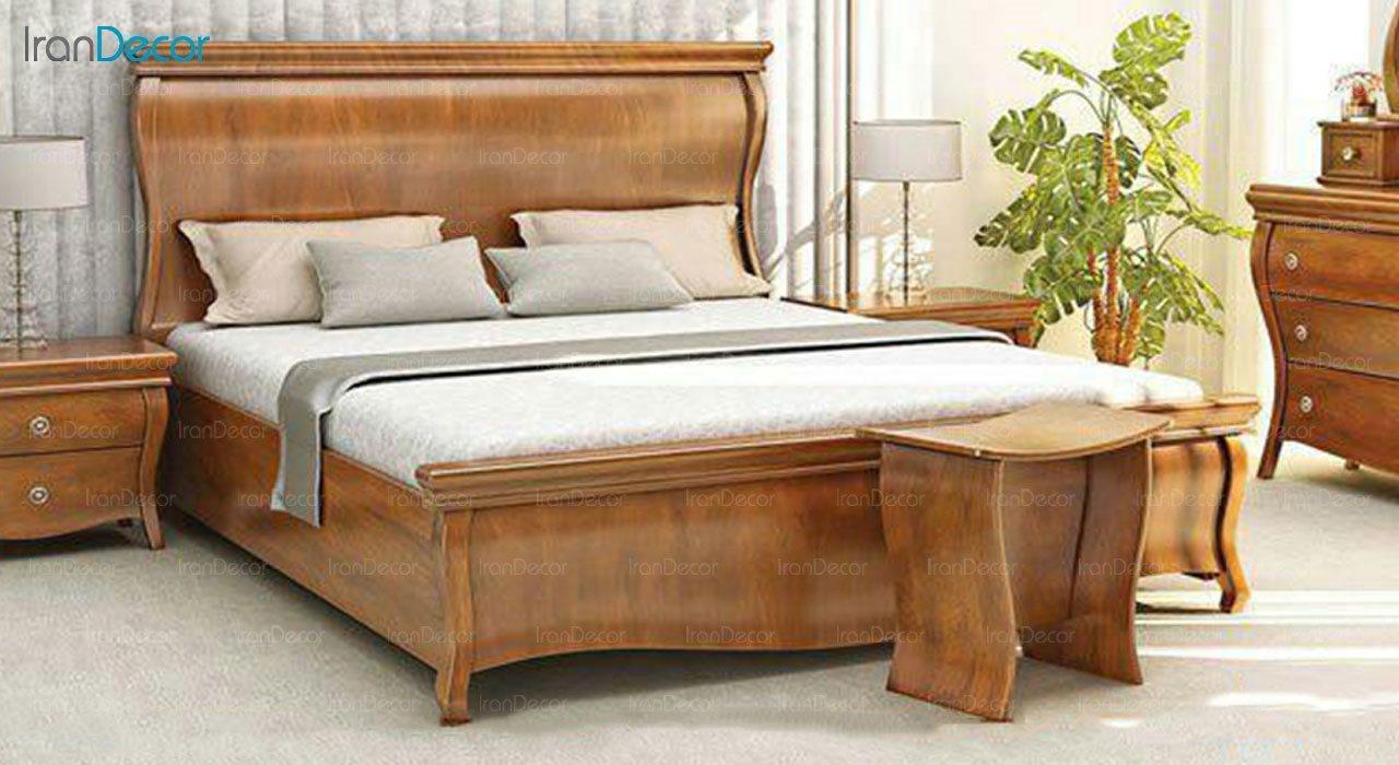 تخت خواب دو نفره مادرین مدل آیلار