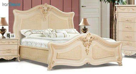 تخت خواب دو نفره مادرین مدل الیزا