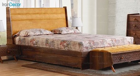 تخت خواب دو نفره پارس چوب مدل آیلین