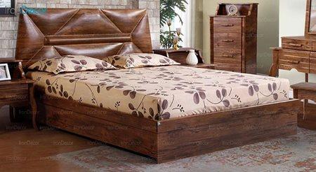 تخت خواب دو نفره پارس چوب مدل النا