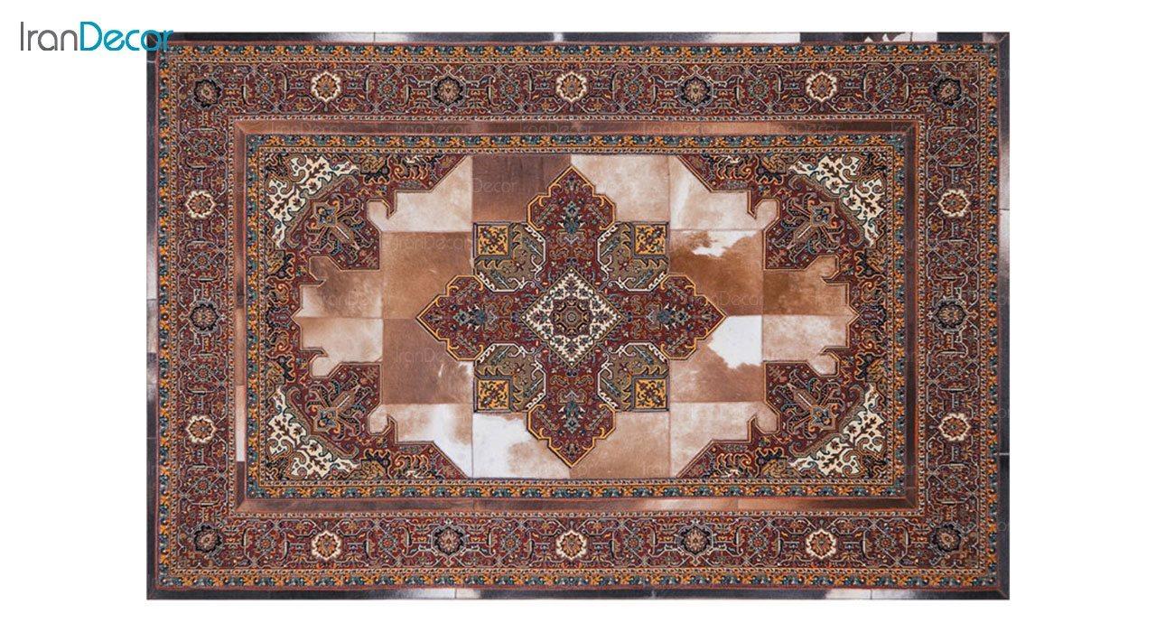 فرش پوست چرمی کرامتیان طرح هریس کد CH006L