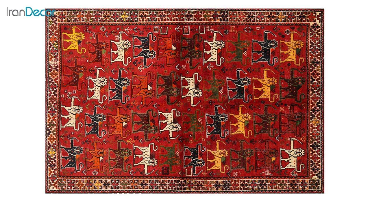 فرش ماشینی طرح پتینه کرامتیان مدل 5949