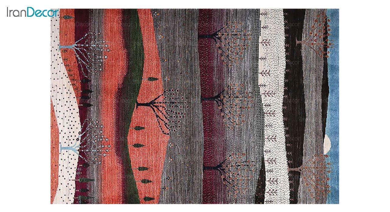 فرش ماشینی طرح پتینه کرامتیان مدل 5985