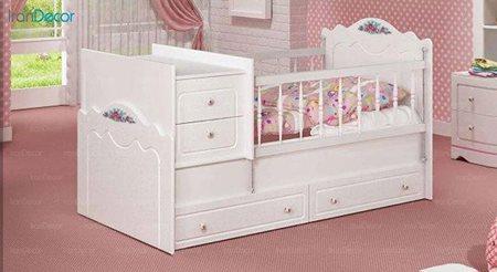 تخت خواب دو منظوره نوزاد و کودک چری مدل C106