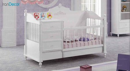 تخت خواب دو منظوره نوزاد و کودک چری مدل C109