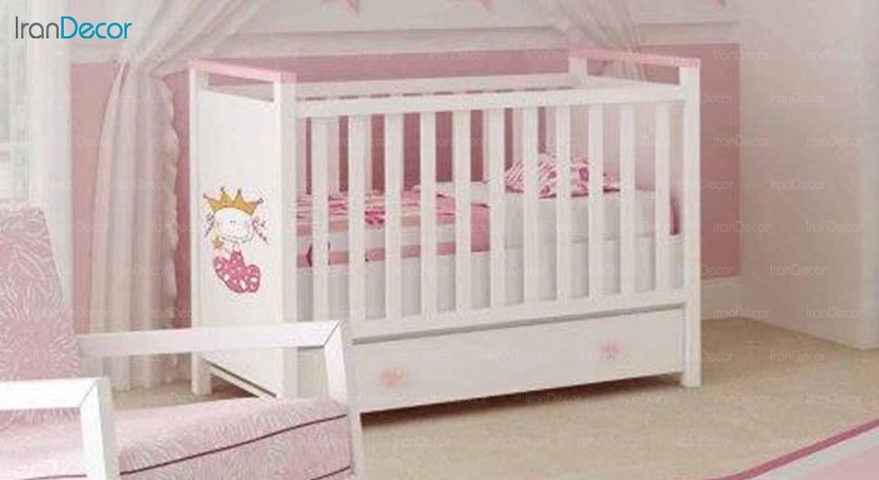تخت خواب نوزاد چری مدل C115