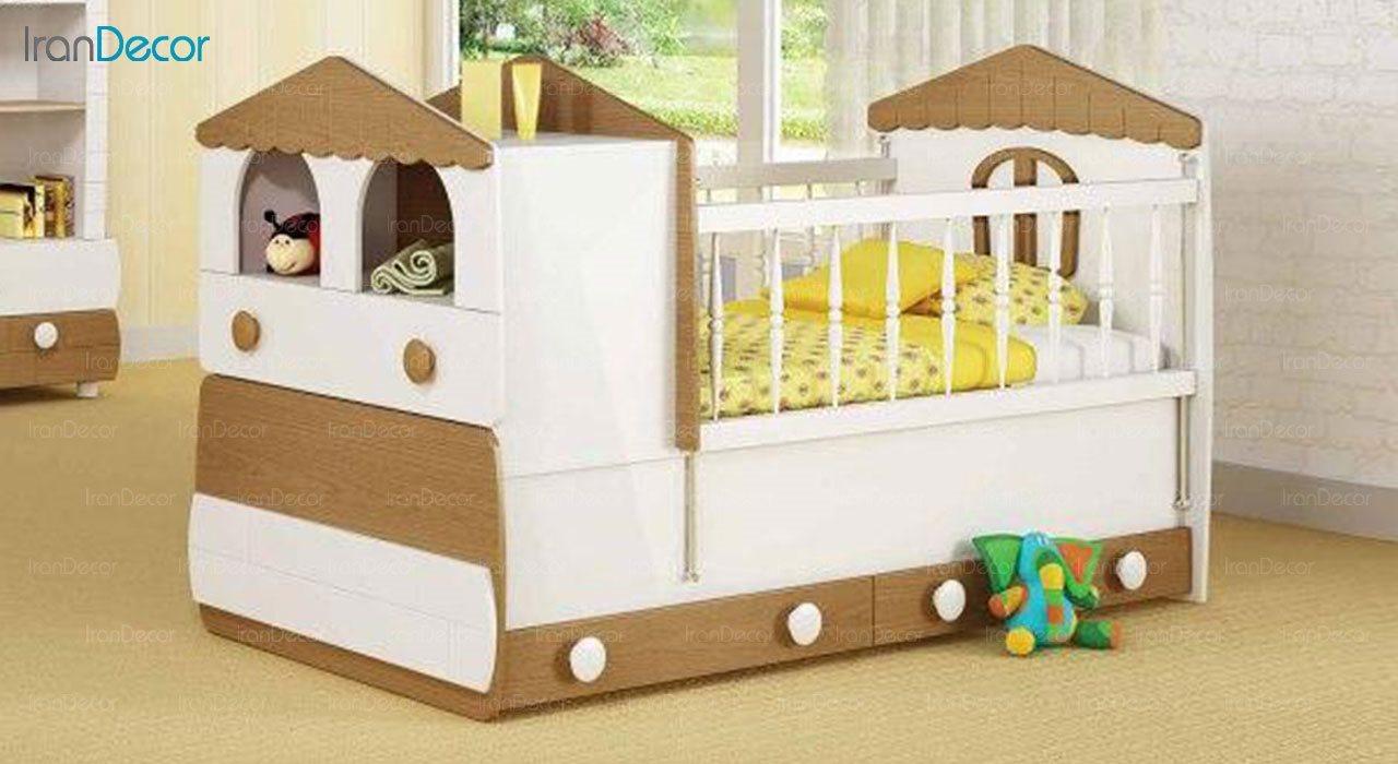 تخت خواب دو منظوره نوزاد و کودک چری مدل C118