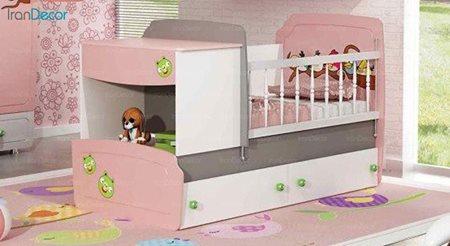 تخت خواب دو منظوره نوزاد و کودک چری مدل C119