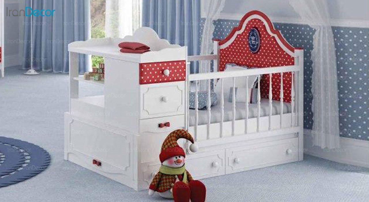 تخت خواب دو منظوره نوزاد و کودک چری مدل C120