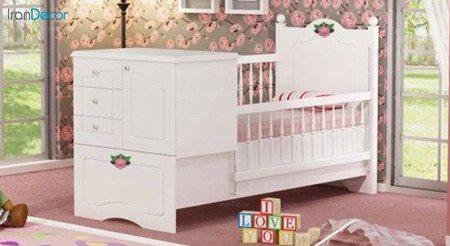 تخت خواب دو منظوره نوزاد و کودک چری مدل C123