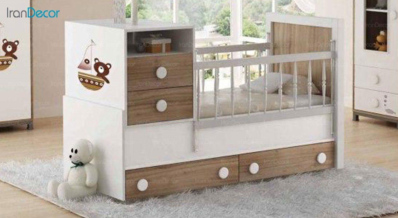 تخت خواب دو منظوره نوزاد و کودک چری مدل C126