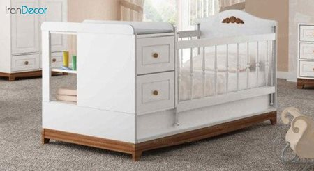 تخت خواب دو منظوره نوزاد و کودک چری مدل C128
