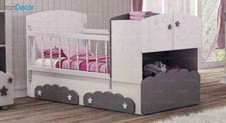 تخت خواب دو منظوره نوزاد و کودک چری مدل C130