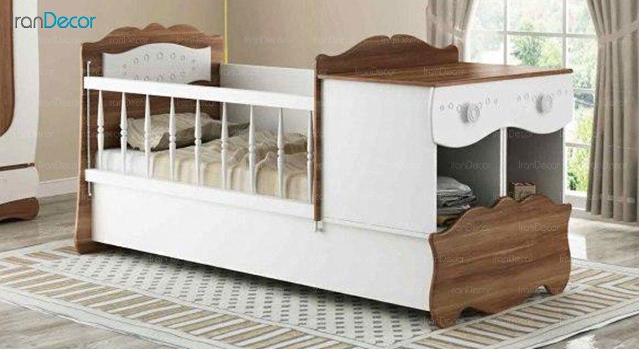 تخت خواب دو منظوره نوزاد و کودک چری مدل C131