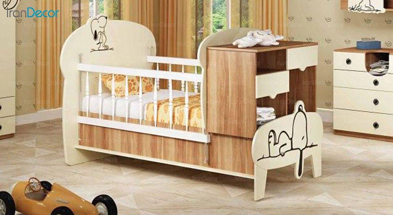 تخت خواب دو منظوره نوزاد و کودک چری مدل C135