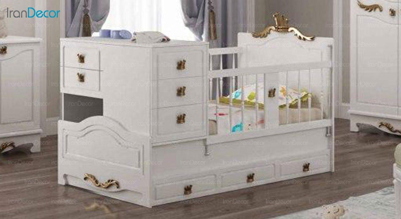 تخت خواب دو منظوره نوزاد و کودک چری مدل C138