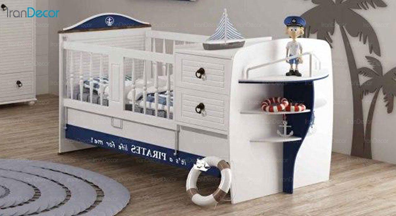 تخت خواب دو منظوره نوزاد و کودک چری مدل C139