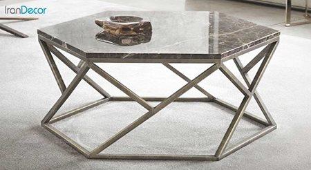 میز جلو مبلی شش ضلعی سنگی مدل هکتو
