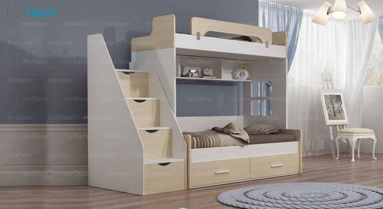 تخت خواب دو طبقه نوجوان چری مدل C504