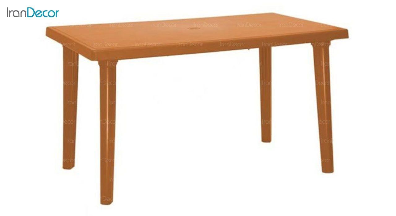 میز ناهار خوری دو منظوره  نظری مدل 516 قهوه ای روشن