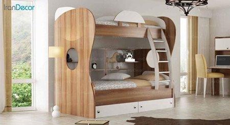 تخت خواب دو طبقه نوجوان فراز مدل F500