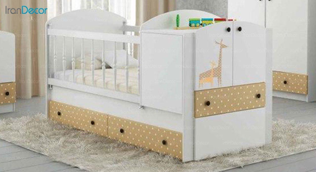 تخت خواب سه منظوره نوزاد و کودک فراز مدل F121