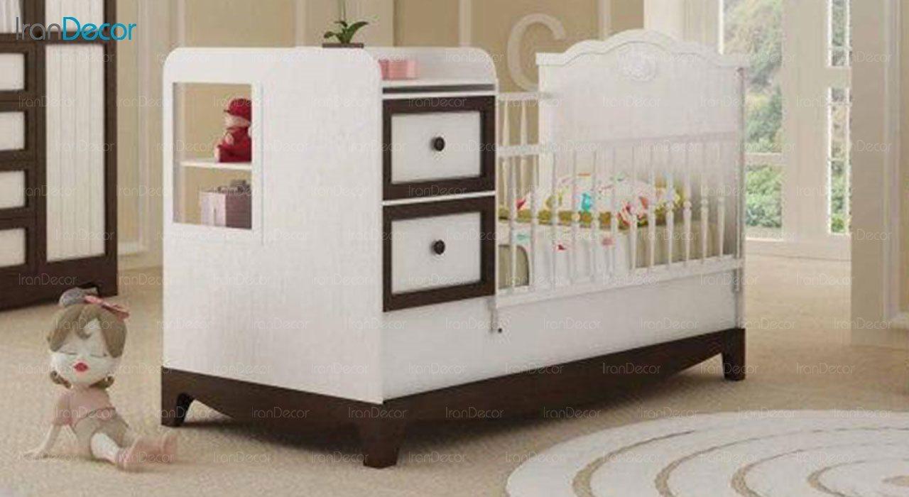 تخت خواب دو منظوره نوزاد و کودک فراز مدل F145