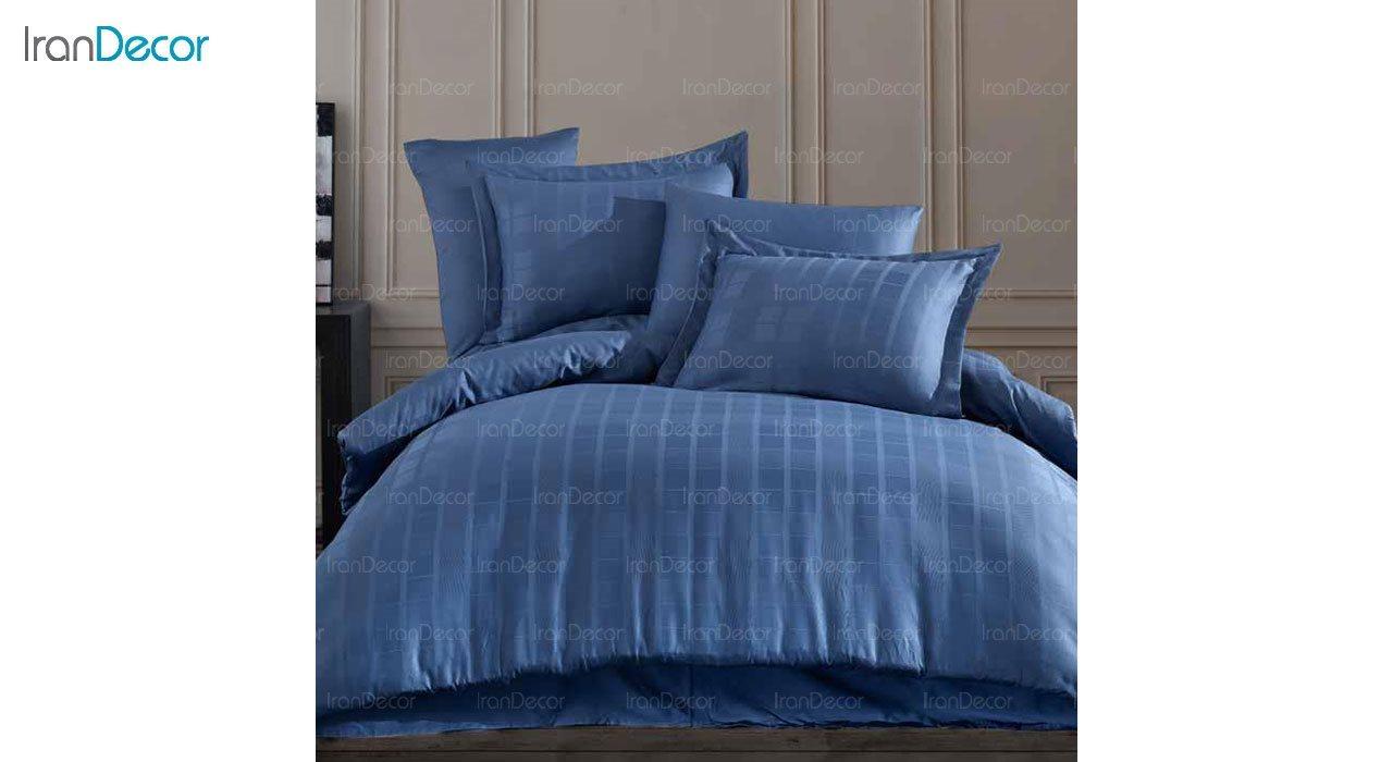 سرویس روتختی ساتن آبی رنگ لومانا مدل ایاس