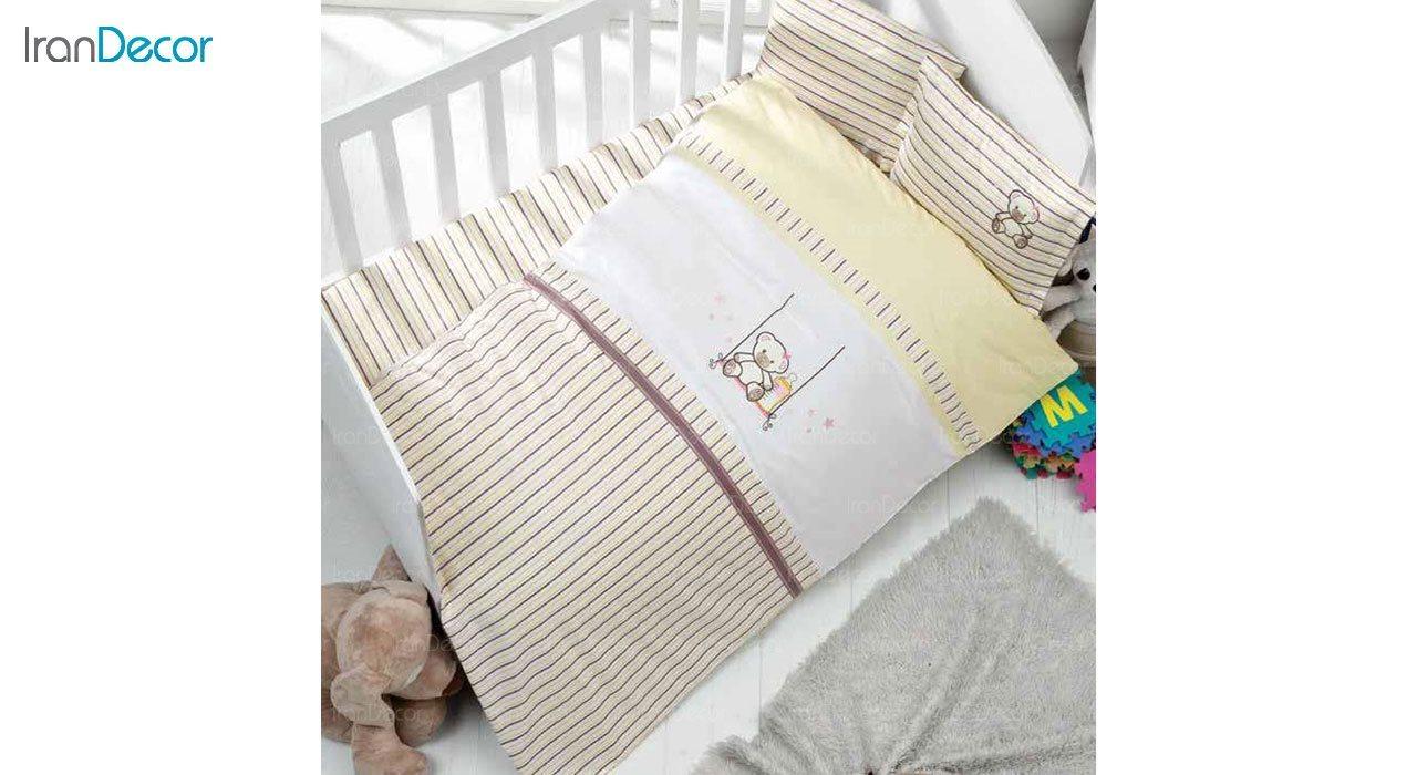سرویس کاور روتختی چهار تکه نوزاد لومانا مدل خرس
