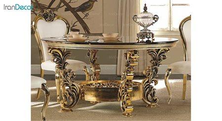 تصویر میز ناهار خوری گرد سلطنتی ماهان مدل استار