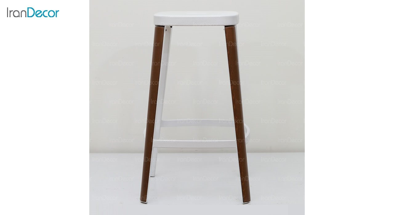 چهارپایه کانتر فلزی با کاور چوبی نظری مدل لاکی N105B