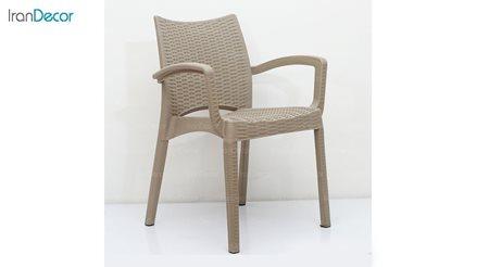 تصویر صندلی حصیری دسته دار نظری مدل بامبو کد 804
