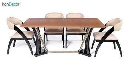 سرویس ناهار خوری مستطیل چوبی راشل مدل TG1