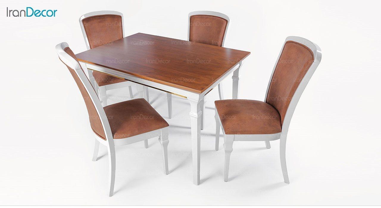 سرویس ناهار خوری مستطیل چوبی کاترین مدل TG1