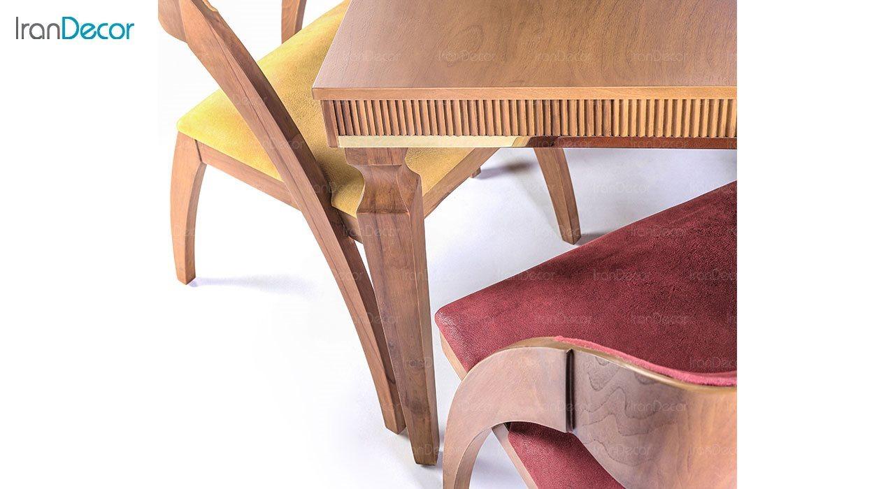 سرویس ناهار خوری مستطیل چوبی الیزا مدل TG1