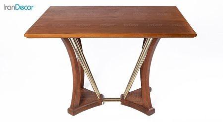میز ناهار خوری مستطیل چوبی مدل راشل