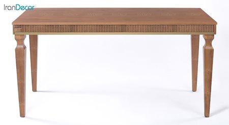 میز ناهار خوری مستطیل چوبی مدل الیزا