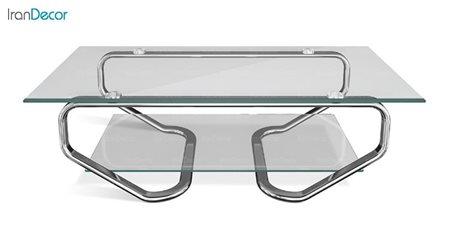 میز جلو مبلی زیمر مدل سنیک با صفحه شیشه