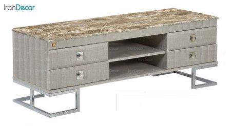 میز تلویزیون طرح سنگ میشا مدل آریا 1050