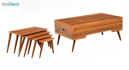 سرویس میز جلو مبلی مدل آلفا از میشا چوب