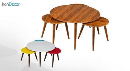 سرویس میز جلو مبلی و عسلی سه تکه میشا مدل بهار 020