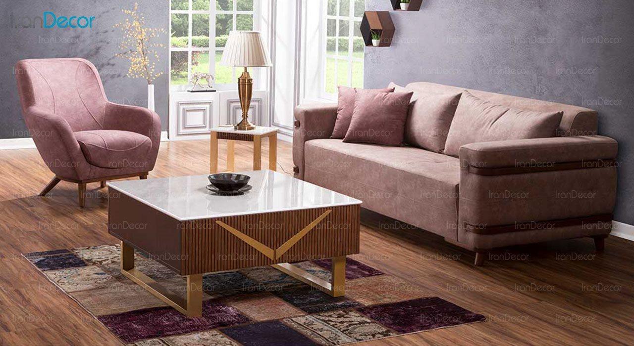 کاناپه راحتی سه نفره بهار نارنج مدل راشا