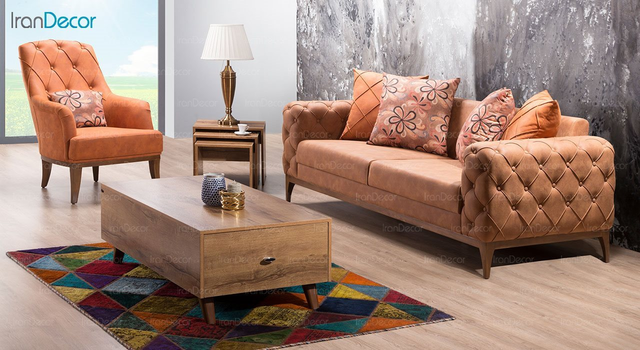کاناپه راحتی سه نفره بهار نارنج مدل سانتوش