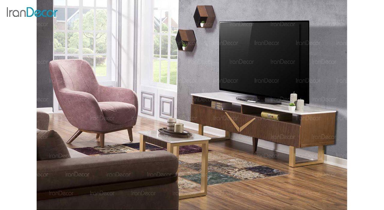 میز تلویزیون بهار نارنج مدل روژان