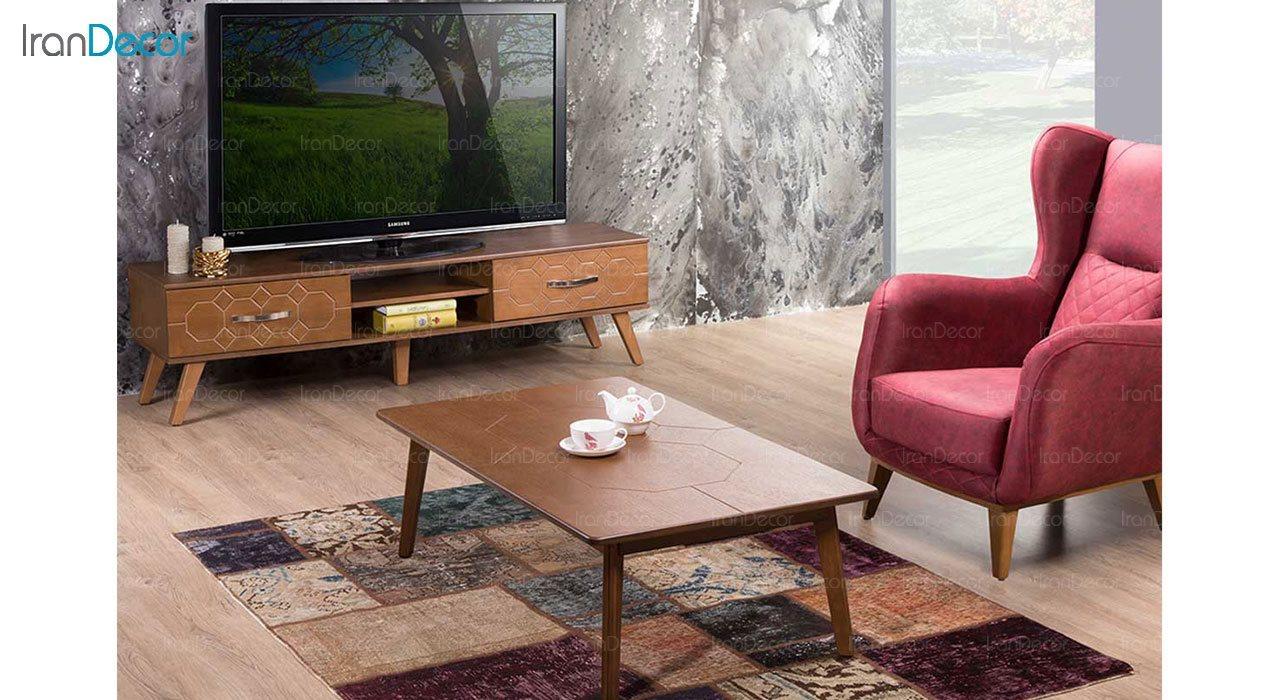 میز تلویزیون بهار نارنج مدل نیشا