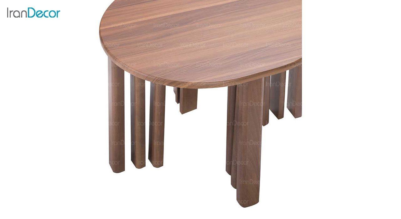 میز عسلی سه تکه بهار نارنج مدل پادین