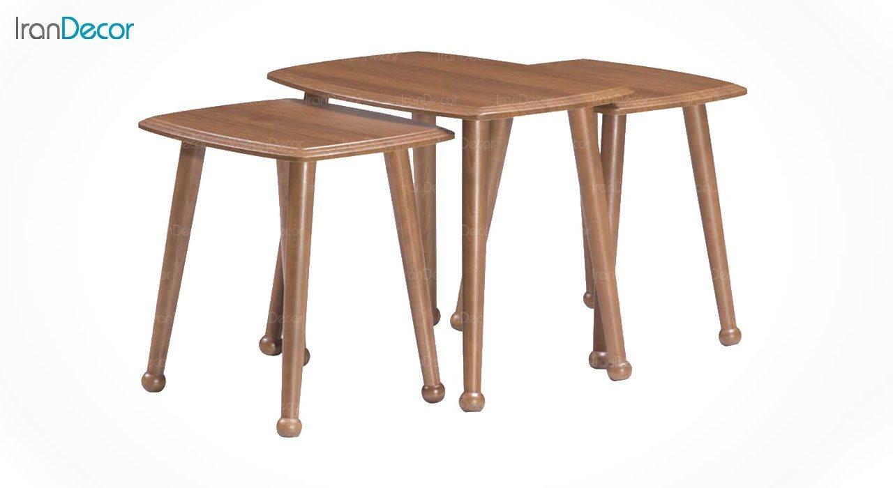 میز عسلی سه تکه بهار نارنج مدل ژوپین